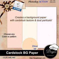 Cardstock BG Paper by Boop Designs
