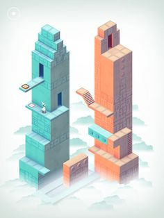 Monument Valley 2 is an illusory adventure of impossible architecture and forgiveness by ustwo games Isometric Art, Isometric Design, Ipad App, Ustwo Games, Monument Valley Game, Creative Review, Mc Escher, Aesthetic Design, Willis Tower