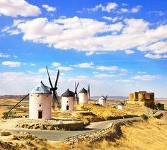 Moinhos em Consuegra (Castela-La Mancha)