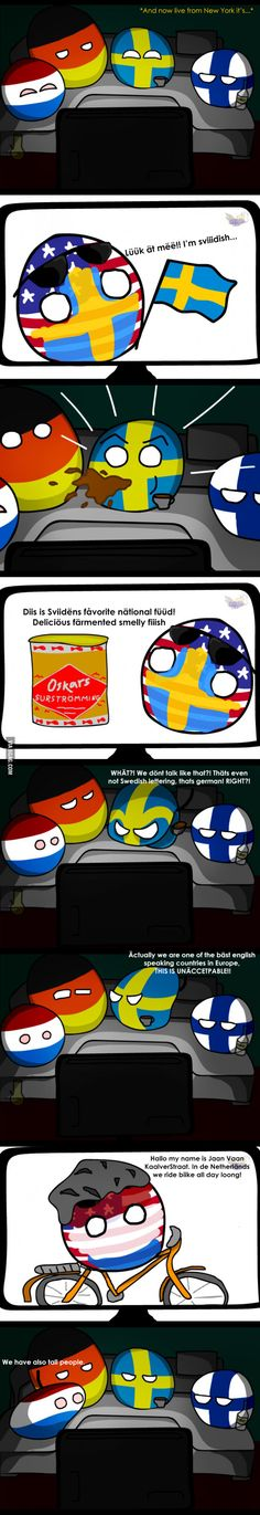Country Balls: European stereotypes<We Dutch actually love it when people make fun of us.