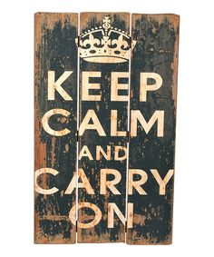 Look at this Black & Beige 'Keep Calm' Wall Art on #zulily today!