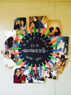 Happiness is a moment with you - picture collage
