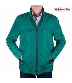 Jacheta verde de primavara Athletic, Zip, Identity, Fashion, Green, Moda, Athlete, Fashion Styles, Deporte