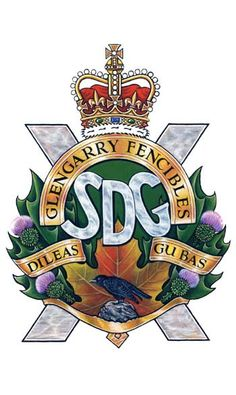 Stormont, Dundas and Glengarry Highlanders Badge Military Units, Military Police, Military Service, Canadian Army, British Army, Highlands Warrior, Military Insignia, Highlanders, Crests