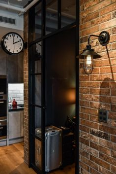 Interior Architecture, Interior Design, Industrial Loft, Tall Cabinet Storage, Home Appliances, House Design, Cool Stuff, House Styles, Wood
