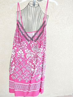 George Plus Size 2X Night Gown Fuchsia Pink White Floral Nightshirt New NWT #George #Gowns
