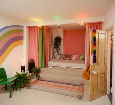 Rainbow Brite's Pad. 80s I had a rainbow painted on my bedroom wall