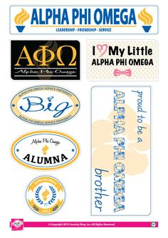 http://www.newtrendsclothing.com/category/omega/ Alpha Phi Omega Family Stickers