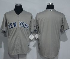 Yankees Blank Grey New Cool Base Stitched MLB Jersey