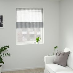 RINGBLOMMA Roman blind - white/blue - IKEA Taking into consideration to living space decoration thoughts, Small Bathroom Window, Window In Shower, Bathroom Stuff, Curtains With Rings, White Curtains, Armoire Pax, Store Bateau, Ikea Family, Living Spaces