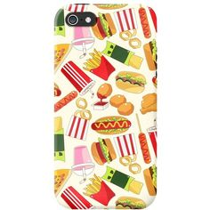 fast food iPhone case ($15) ❤ liked on Polyvore featuring accessories, tech accessories, iphone sleeve case and iphone cover case