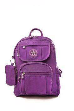 Multi Pocket, Lightweight, Small Nylon Backpack (Purple): Amazon.co.