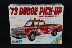 dodge truck model kits | MPC '73 Dodge Pick Up Model Car Kit Sealed!