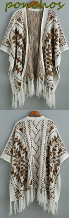Fall favorite: ponchos.They're so big and comfy n cute and make you feel like you're all cuddled up!