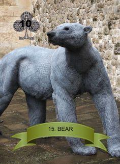 The Bear ~ Polar Bear from the Tower of London Menagerie Tower Of London, Polar Bear, Dinosaur Stuffed Animal, Tudor, Animals, Decks, Design, Animales, Animaux