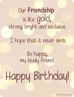 Happy Birthday Best Friend Wishes Quotes Messages Bestie