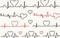 heartbeat monitor graphic line tattoos pinterest
