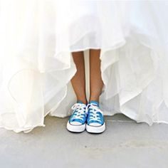 Blue Chuck Taylor's Converse are a cute idea! And these would be super comfy!