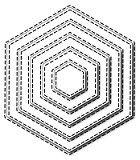 Frantic Stamper Precision Die - Stitched Hexagons
