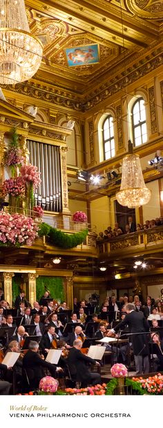 Vienna Philharmonic Orchestra, New Year's Concert in the famous Musikverein concert house, Vienna