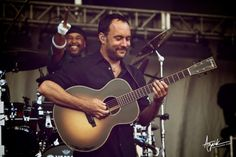 Carter Beauford and Dave Matthews at the DMB Caravan in Chicago