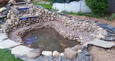 How To Build A Pond - Backyard Water Garden Backyard Water Feature, Ponds Backyard, Koi Ponds, Backyard Waterfalls, Garden Ponds, Swimming Ponds, Fish Pond Gardens, Small Gardens, Pond Construction
