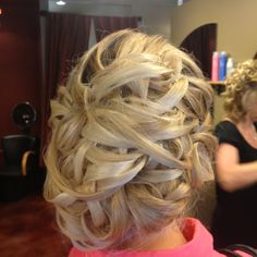 Back of my hair at Aubs wedding.