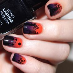 Bulleuw:  Halloween  #nail #nails #nailart