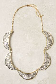 #engagementparty Anthropologie Waxing Flicker Necklace. $48. Scalloped Statement PIece. @Anthropologie .
