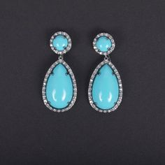 Moroccan Pear Earring Turquoise now featured on Fab.com