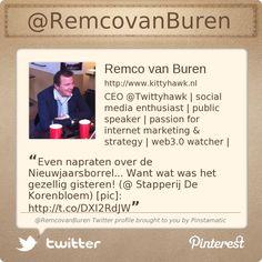 @RemcovanBuren's Twitter profile courtesy of @Pinstamatic (http://pinstamatic.com)
