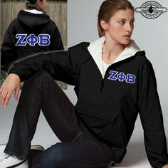 Zeta Phi Beta Sorority Pullover Jacket $39.99 #Zeta #ZetaPhiBeta #Sorority #Clothing #Greek