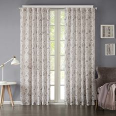 INK+IVY Hawthorne 63-Inch Rod Pocket Window Curtain Panel in Indigo