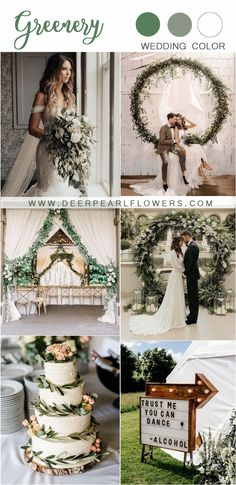 rustic greenery wedding color and decor ideas spring wedding 20 Eco-Friendly Greenery Wedding Color Ideas Winter Wedding Colors, Spring Wedding Themes, Pastel Wedding Colors, Spring Weddings, Wedding Venue Inspiration, Wedding Theme Ideas Unique, Groom And Groomsmen Attire, May Weddings, Space Wedding