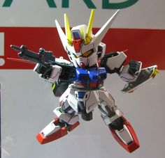 "静岡ホビーショー 2015年 SD GUNDAM EX-STANDARD Aile Strike Gundam: ""Customize with HG!!!"" Photoreport Hi Resolution Images http://www.gunjap.net/site/?p=246245"