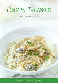 Chicken Fricassee (low-carb, keto, primal)