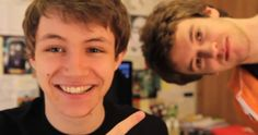 Charlie McDonnell (AKA Charlieissocoollike) with his cute friend Alex Day (also a youtuber AKA Nerimon)