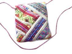 Gujarati Mirrorwork Hobo Handbag Pakistani Embroidery Banjara handbag and purses with Strips for ladies. Indian traditional and colorful Christmas gifts from Kirti Textile