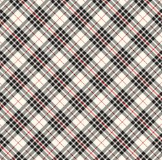 One sheet x heavy-weight, double-sided paper. Christmas Delivery, Black Cream, Plaid, Paper, Gingham, Tartan