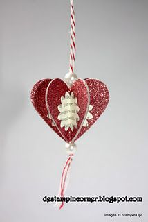 Heart ornament - pretty for valentine day gifts