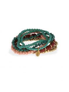 Set de bracelets perles de rocaille multicolore | Bala Boosté