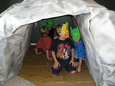 My nephew loves caves and tunnels! It'd be cool for him to explore a homemade one at his dinosaur party! :)