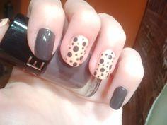 Pink & grey dots nails, Sephora nail polish