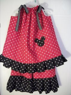 Minnie Mouse or Mickey Mouse 2pc Custom by simplysplendid2 on Etsy, $44.99