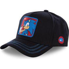 43cf68dc75689 Caphunters - Gorra curva negra snapback Sonic Sonic the Hedgehog de  Capslab  comprar online en Caphunters