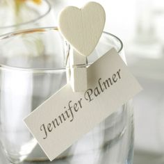 place card holders - an idea instead of the wine corks @jen Palmer mini clothes pins