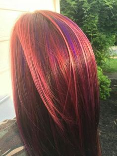 A delicious blend of purple red orange and blue my own unique hair color pmusecretfo Image collections