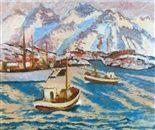 Axel Revold (1887-1962): Fiskebåter i Nord-Norge, 1949