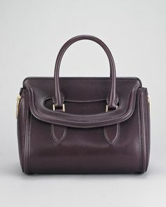 Calfskin Heroine Satchel Bag by Alexander McQueen at Neiman Marcus.