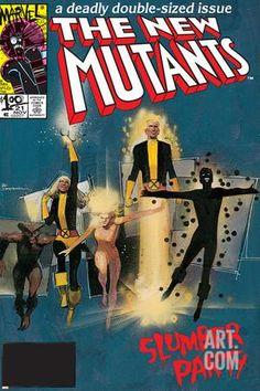 The New Mutants No.4 Cover: Sunspot, Cannonball, Magik, Magma, Wolfsbane and New Mutants Metal Print by Bill Sienkiewicz at Art.com